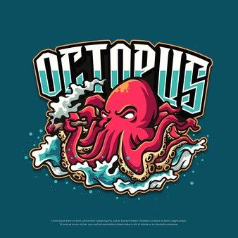 Octopus logo mascotte ontwerp