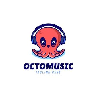 Octopus muziek logo ontwerp