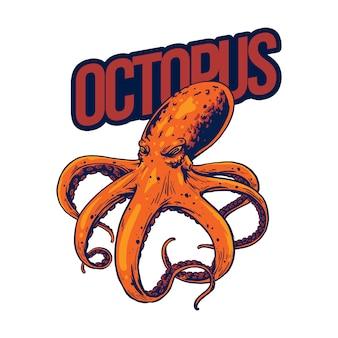 Octopus ontwerpkunst voor merchandise