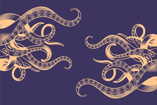 Octopus tentakels achtergrond