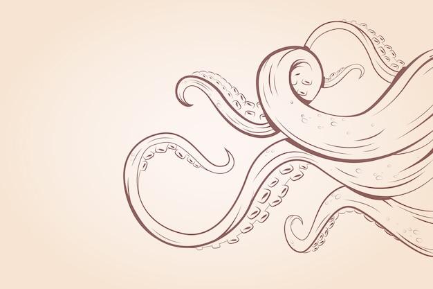 Octopus tentakels thema voor behang