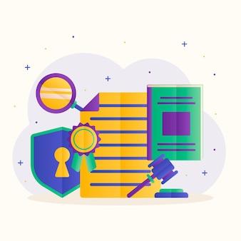 Octrooirecht concept met documenten