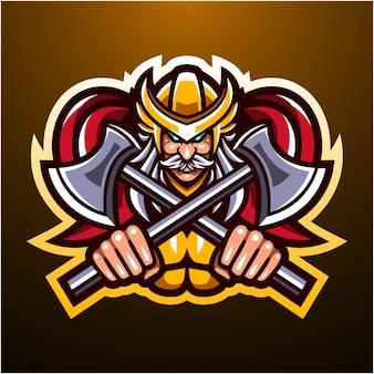 Odin esport mascotte logo