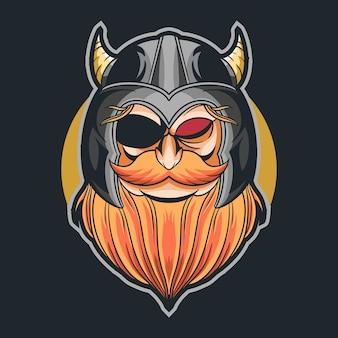Odin hoofd vector illustratie ontwerp cartoon