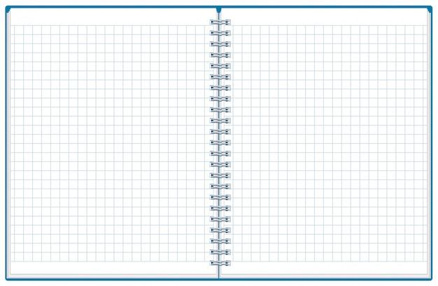 Oefenboek, notitieblok openen, geruit notitieblok