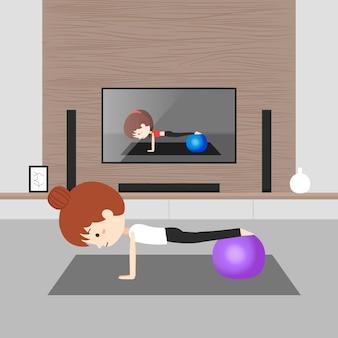 Oefenen thuis concept