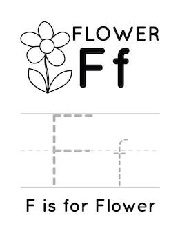Oefenwerkblad alfabet handschrift voor kinderen
