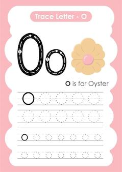 Oefenwerkblad oyster trace-lijnen schrijven en tekenen voor kinderen