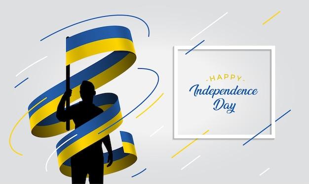 Oekraïne onafhankelijkheidsdag illustratie