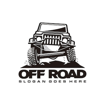 Off-road auto logo sjabloon