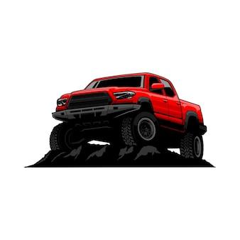 Off road car illustratie