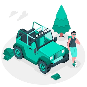 Off-road concept illustratie