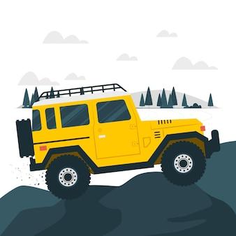 Off-road concept illustratie