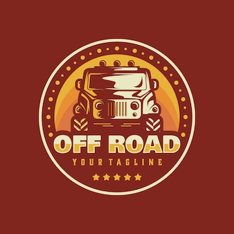 Off-road logo vector sjabloon