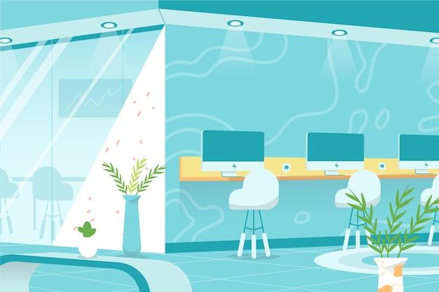 Office-achtergrond voor videoconferentie