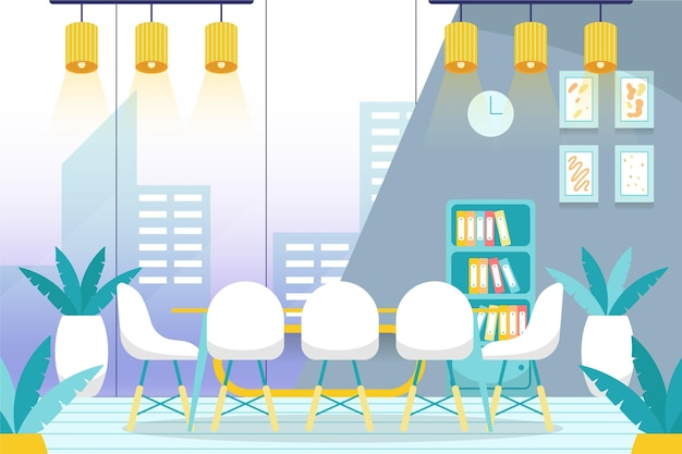 Office-achtergrond voor videoconferenties