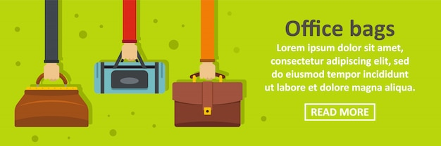 Office bags banner sjabloon horizontale concept