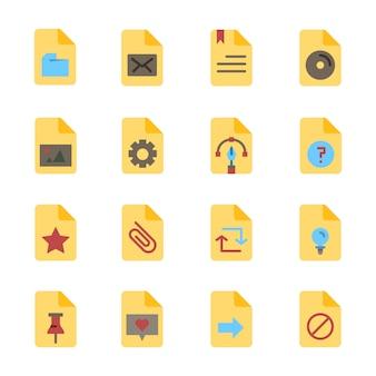 Office-bestand papieren document plat ontwerp