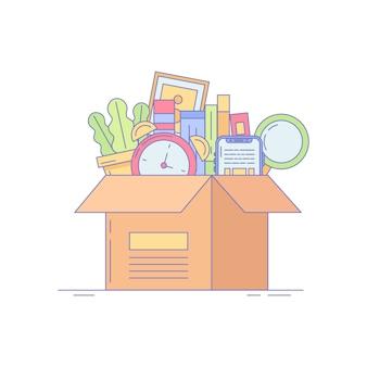 Office box-pictogram voor bedrijven en landen