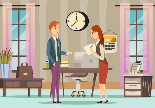 Office gekleurde orthogonale achtergrond