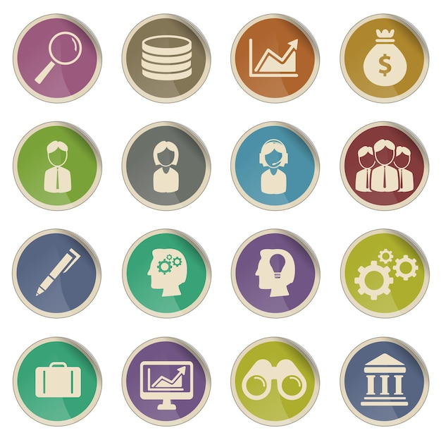 Office gewoon vector icon set