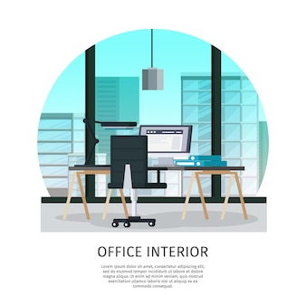 Office interieur sjabloon