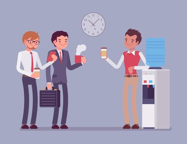 Office mannelijke koelere chat