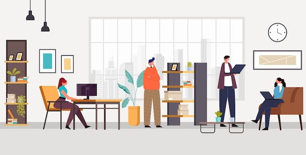 Office mensen karakters leven concept.