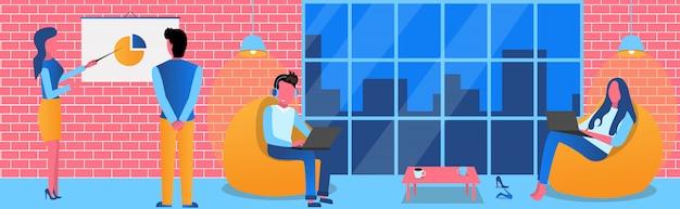 Office teamwerk illustratie achtergrond