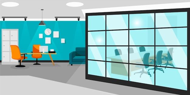 Office wallpaper voor videoconferenties