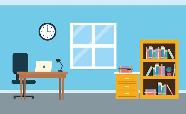 Office werkplek achtergrond