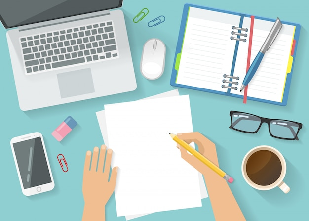 Office werkruimte concept