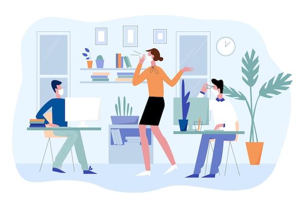 Office zakenmensen werken en communiceren