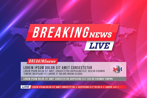 Officieel breaking news wereldkaartthema