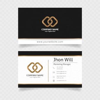 Officieel visitekaartje in goud met elegant concept