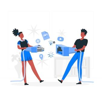 Offline concept illustratie