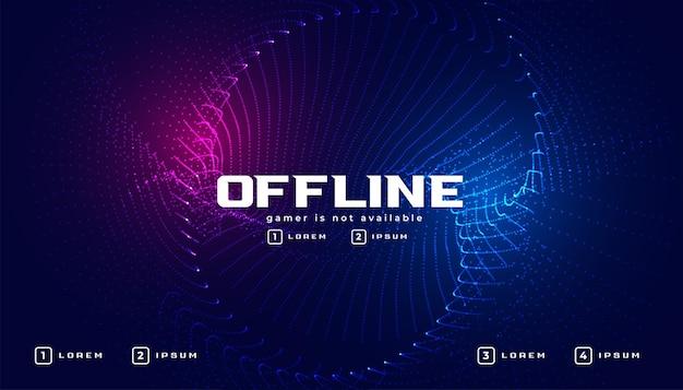 Offline gaming-banner in deeltjesstijl