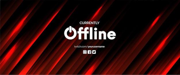 Offline sociale media achtergrond met rode lijnen