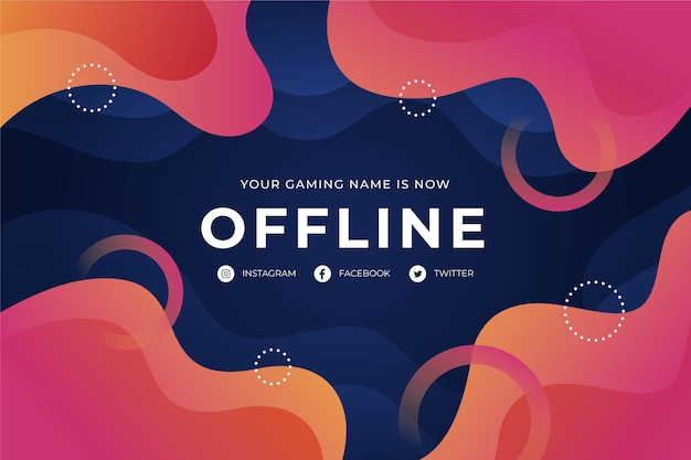 Offline twitch abstract sjabloon voor spandoek