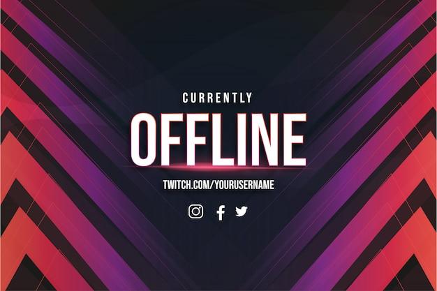 Offline twitch-achtergrond met abstracte vormen sjabloon
