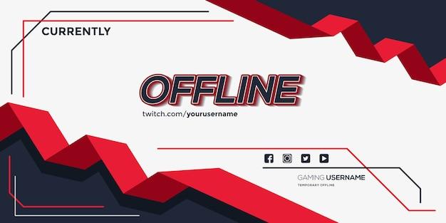 Offline twitch banner achtergrond met lint vormen