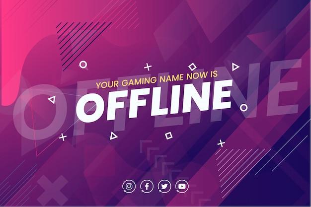 Offline twitch banner achtergrond sjabloon