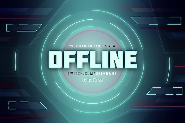 Offline twitch banner gamer-stijl