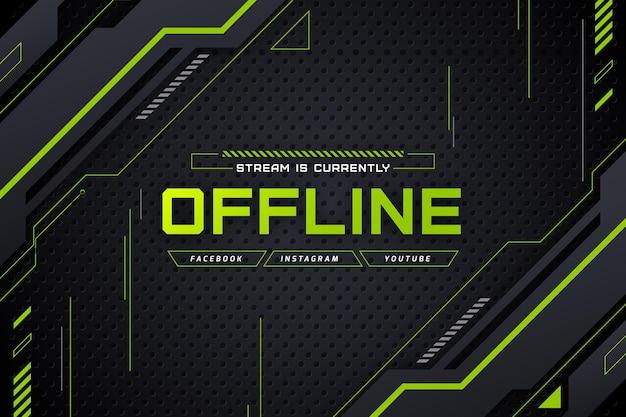 Offline twitch banner gammer-stijl