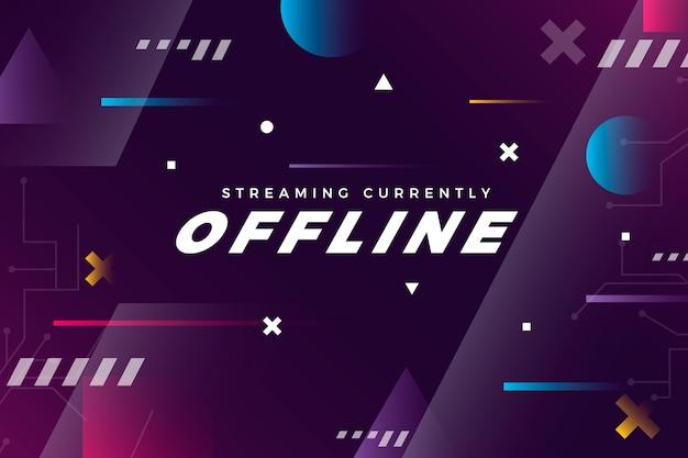 Offline twitch banner gammer-stijlsjabloon