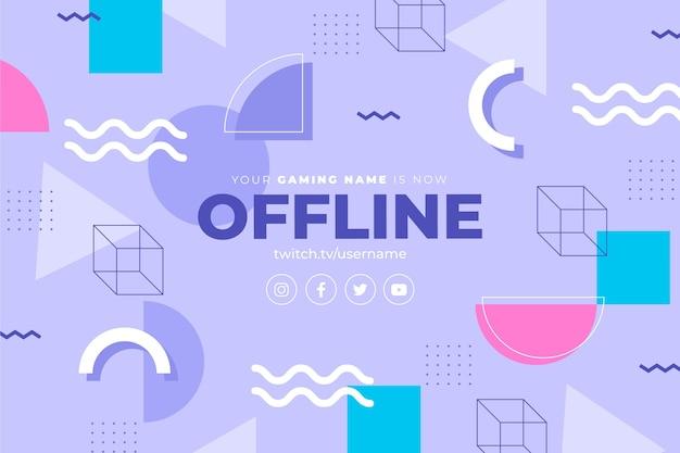 Offline twitch-banner in de stijl van memphis