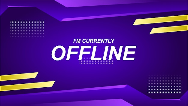 Offline twitch-banner in gamerstijl