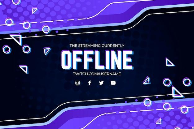 Offline twitch-banner in gammer-stijl