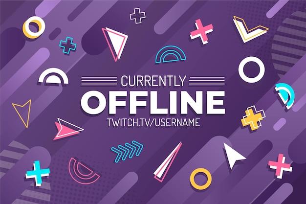 Offline twitch banner memphis-stijl