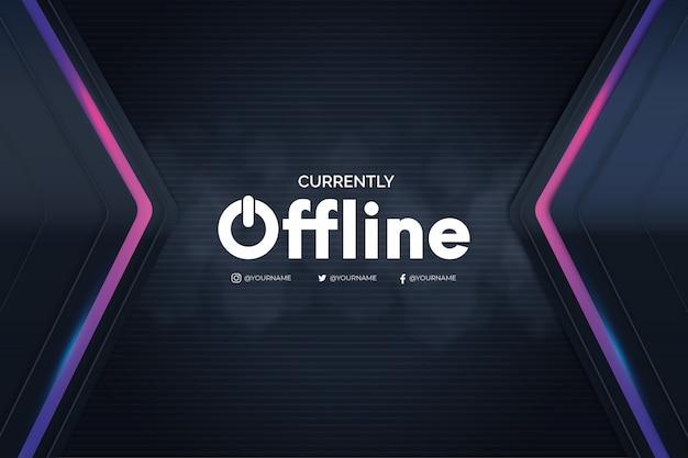 Offline twitch banner met 3d-achtergrond
